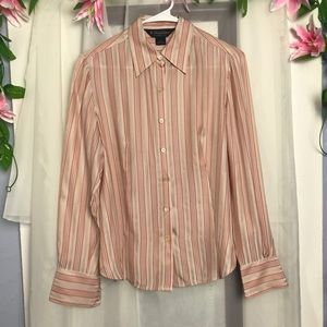 Brooks Brothers silk striped Size 8